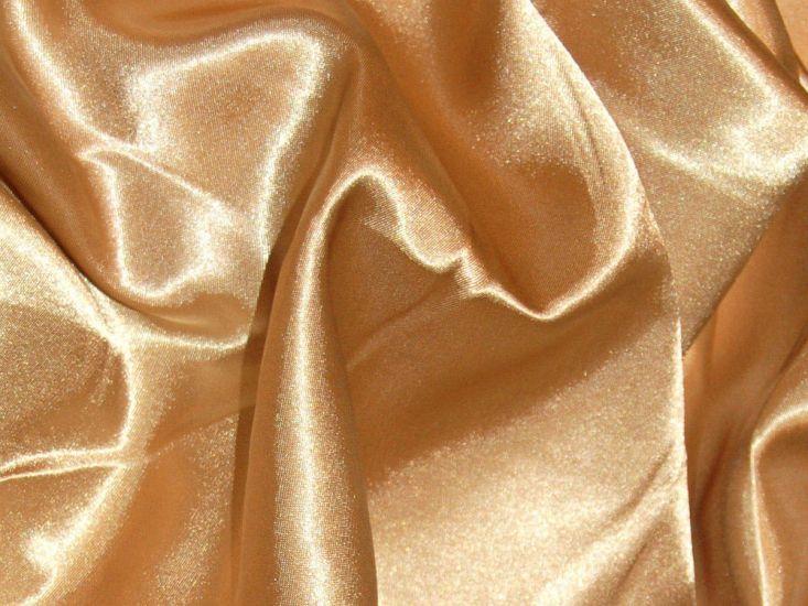 Silk Feel Polyester Satin, Gold