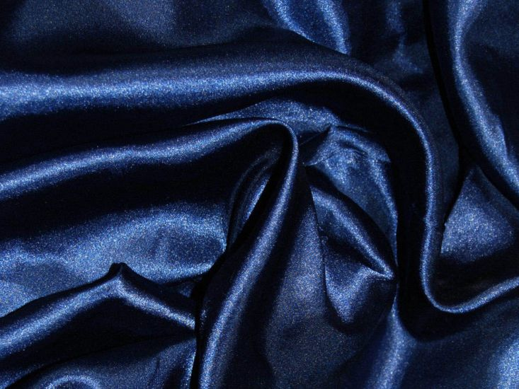 Silk Feel Polyester Satin, Navy Blue