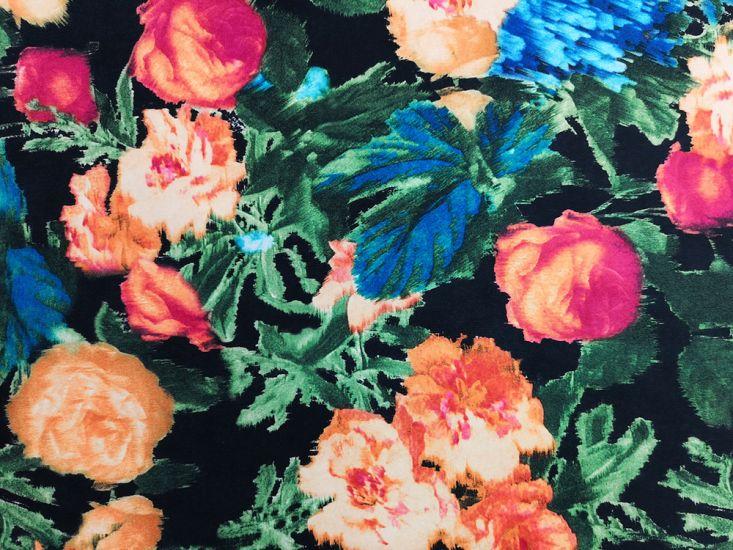 Printed Scuba, Floral Garden