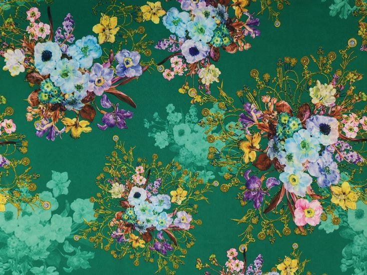 Printed Scuba, Pocket Watch Bouquet