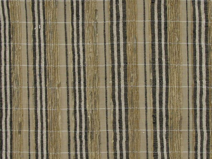 Woven Raw Silk Noile, Stripes