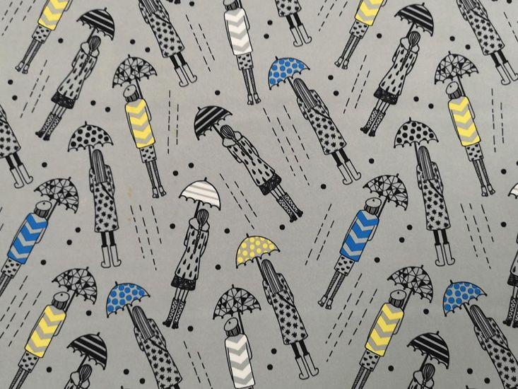 Waterproof Soft Shell Fleece Rainy Day, Silver