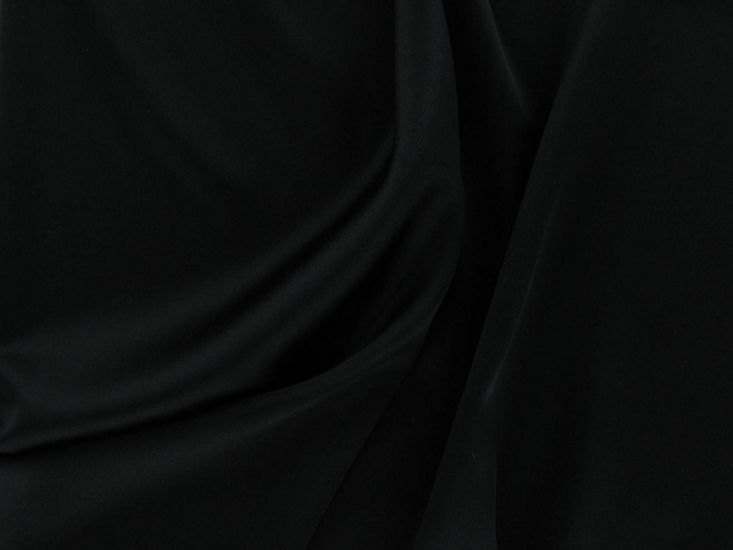 Italian Stretch Silk, Black