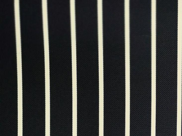 Woven Narrow Width Silk, Luxe Stripe, Navy