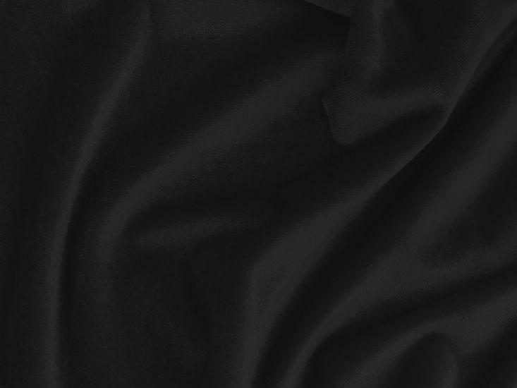Cotton Pile Fire Retardant Velvet, 350 g/m², Black