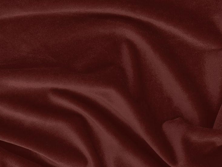 Cotton Pile Fire Retardant Velvet, 350 g/m², Red