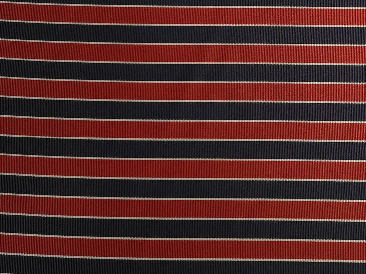 Woven Wide Width Silk, College Stripe, Red, Navy and White