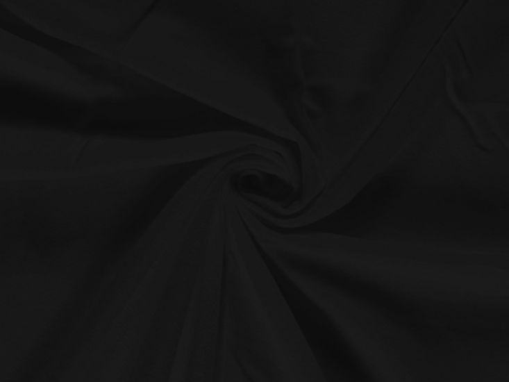 Plain Brushed Cotton Winceyette, Black