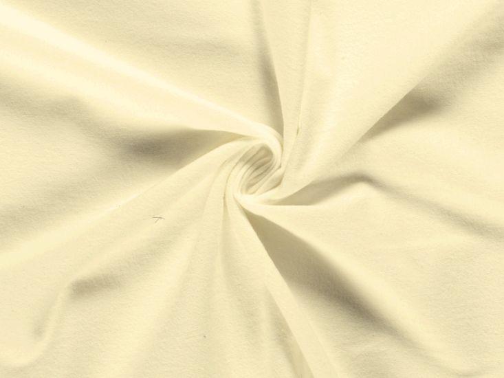 Plain Brushed Cotton Winceyette, Lemon