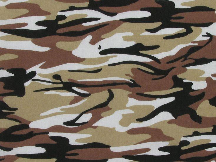 Camoflauge Polycotton Print, Desert