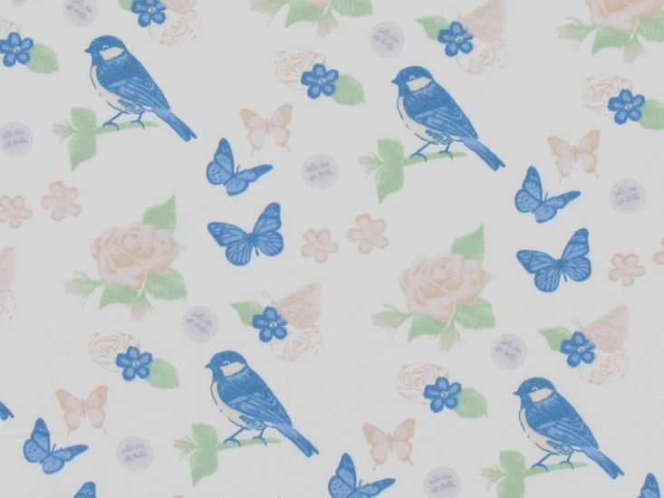Sparrow Garden Cotton Poplin Print, Orange Rose