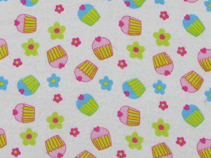 Cute Cupcakes Brushed Cotton