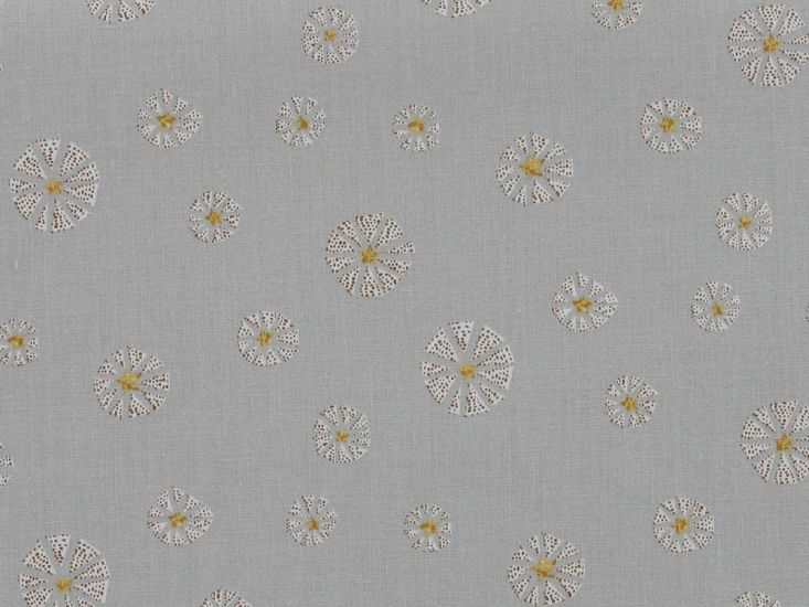 Dandelion Star Cotton Print, Yellow
