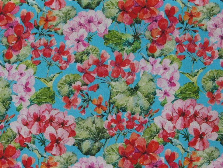 Hida Blossom Cotton Print, Sky