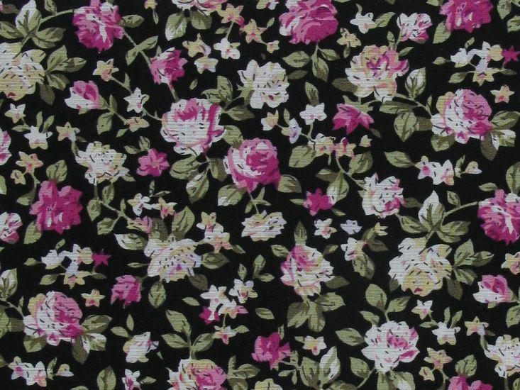 Hurn Garden Cotton Print, Black