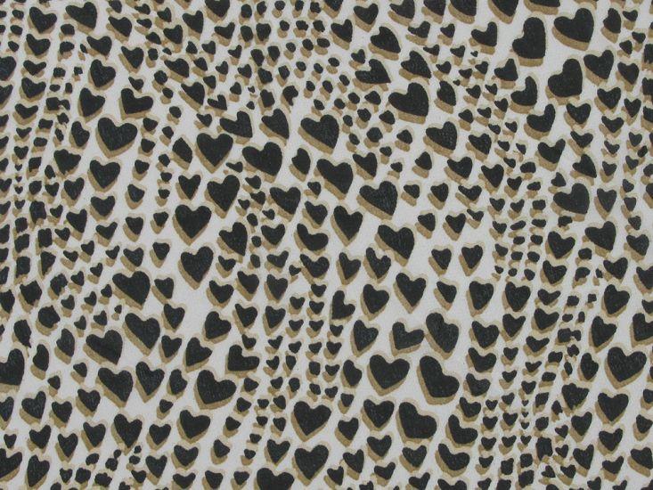 Leopard Hearts Printed Chiffon