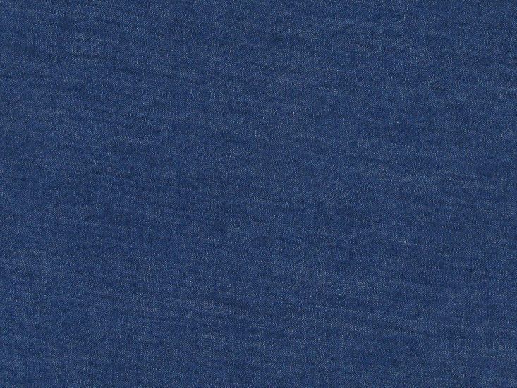 Plain Washed Chambray, Mid Blue