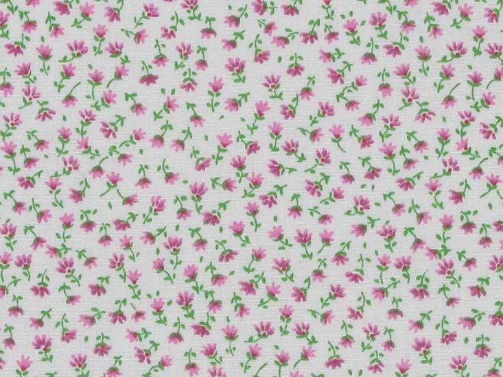 Mini Lily Polycotton Print, Pink
