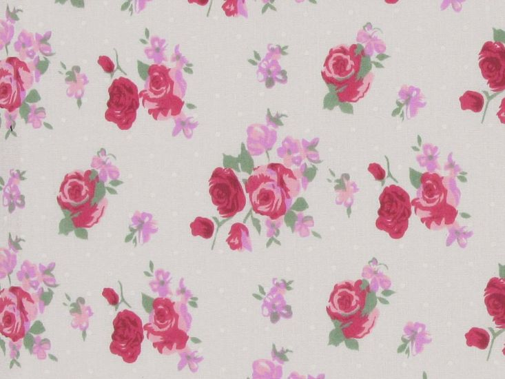 Buscot Spot Rose Polycotton Print, Red