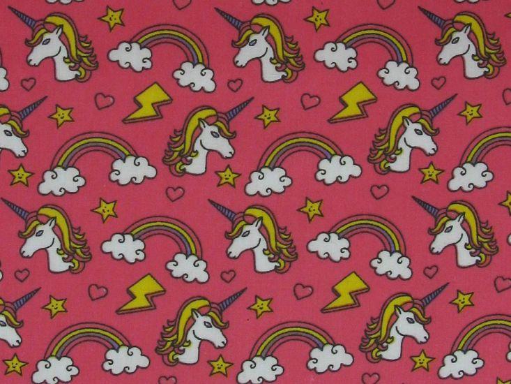 Unicorn Funk Polycotton Print, Candy