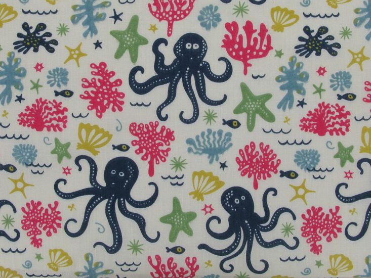 Under The Sea Polycotton Print
