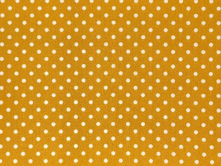 Craft Collection Cotton Print, Small Spot, Mustard