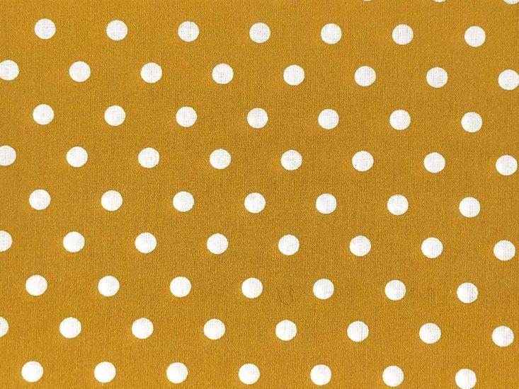 Craft Collection Cotton Print, Pea Spot, Mustard