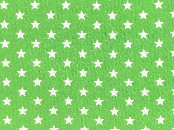 Craft Collection Cotton Print, Small White Star, Apple