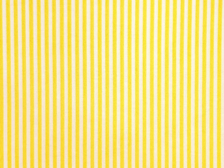 Craft Collection Cotton Print, Candy Stripe, Yellow