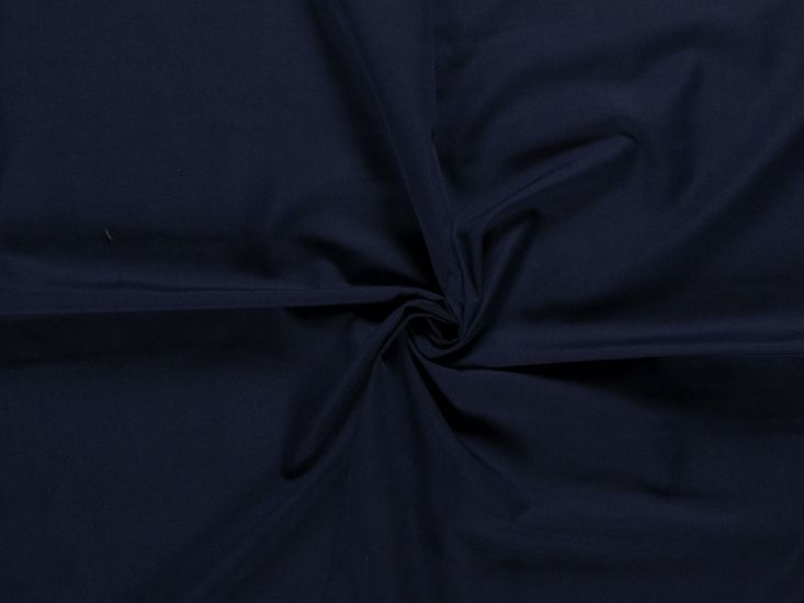 Wide Width Polycotton Sheeting, Navy
