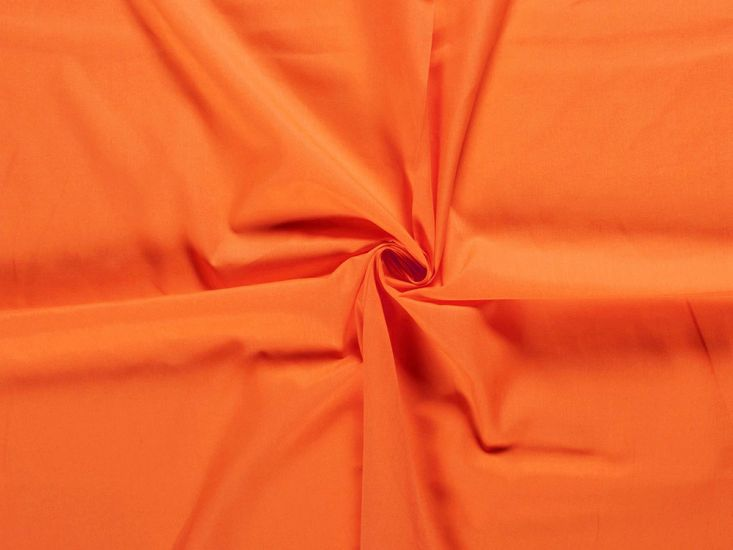 Wide Width Polycotton Sheeting, Orange