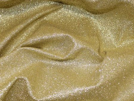 Glitter Sparkle Stretch Polyester, Bright Gold