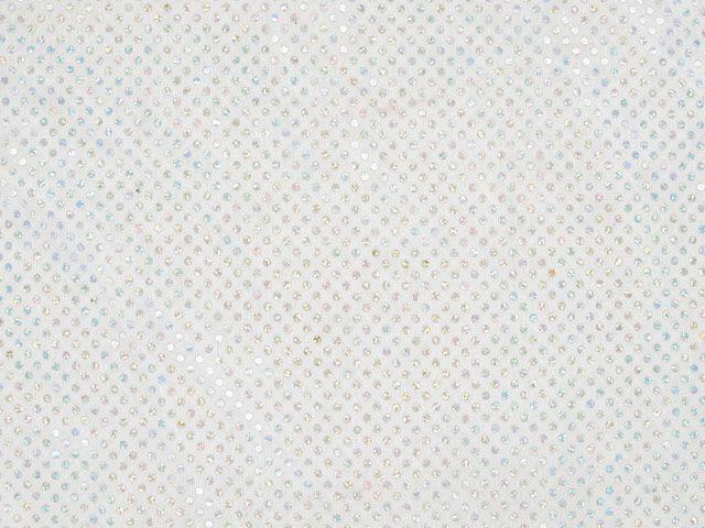 Hologram Sequin Velour, Wide - White