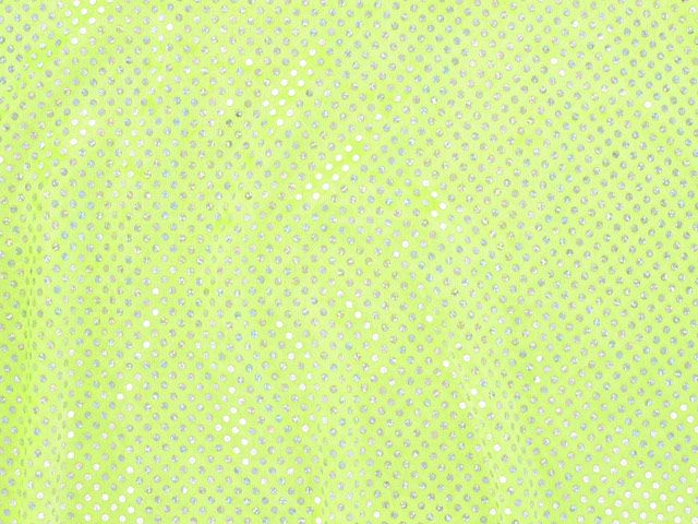 Hologram Sequin Velour, Wide - Yellow