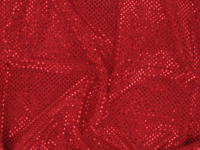 Hologram Sequin on US Knit - Red