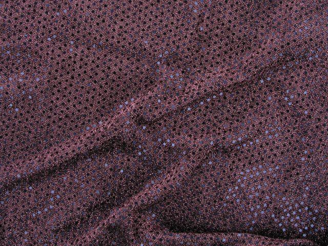 Hologram Sequin on US Knit - Red Grape