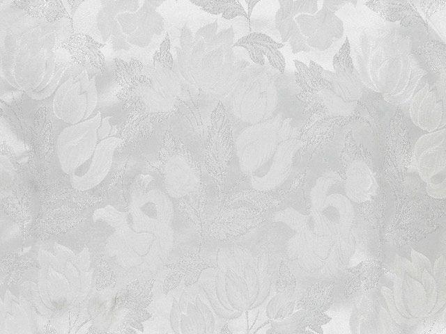 Metallic Brocade Flowers - Silver