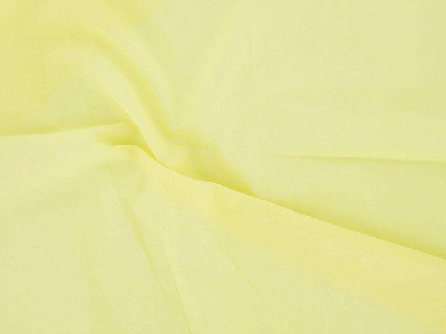 Plain Polycotton Fabric - Pale Yellow