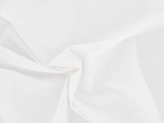 Plain Polycotton Fabric - White