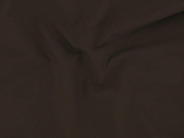 Plain Polycotton Fabric - Chocolate
