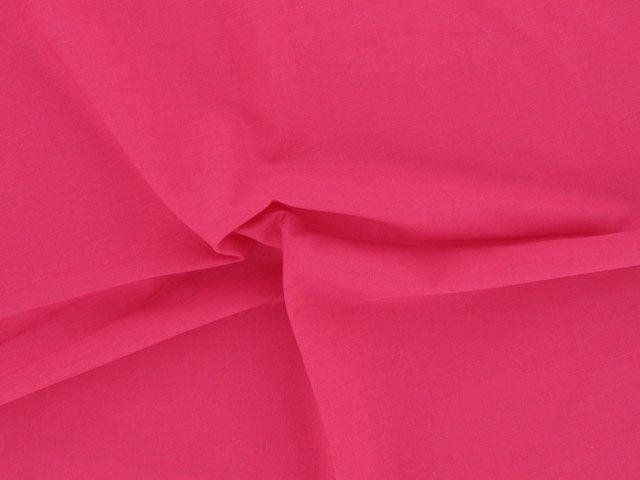 Plain Polycotton Fabric - Cerise