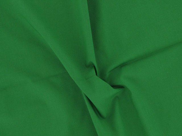 Plain Polycotton Fabric - Emerald