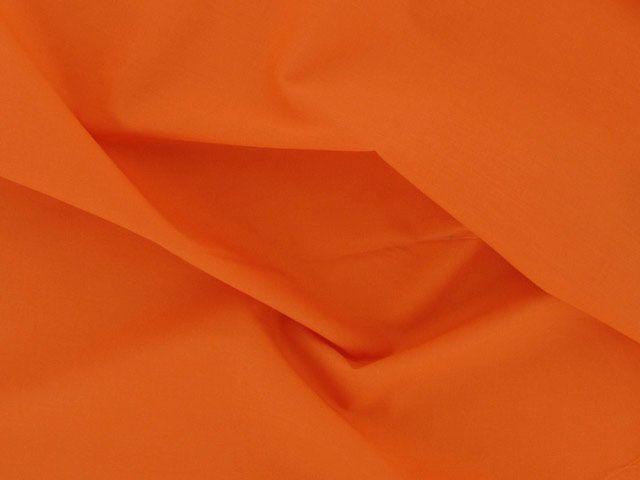 Plain Polycotton Fabric - Orange