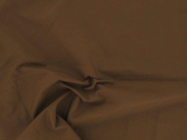 Plain Polycotton Fabric - Brown