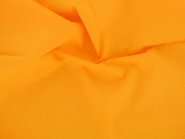 Plain Polycotton Fabric - Bright Orange