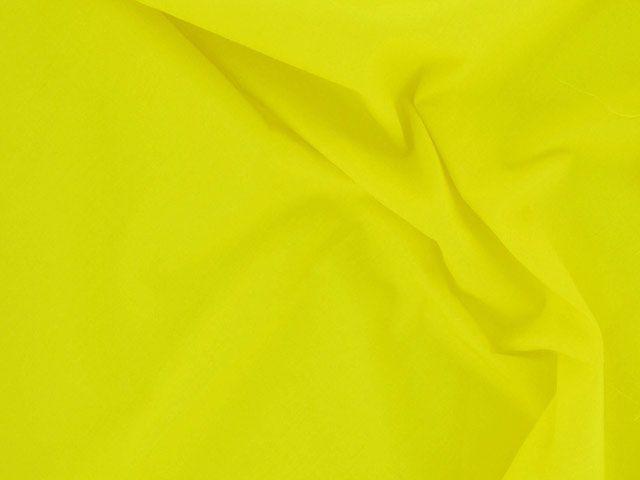 Plain Polycotton Fabric - Bright Yellow