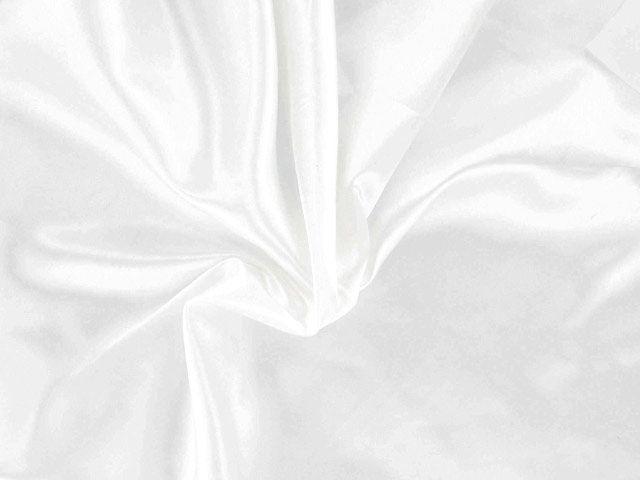 Polyester Satin - White