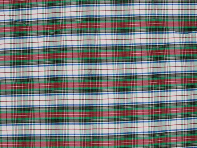 Taffeta Kilt Stripe - Green and Red