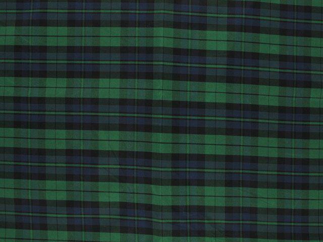 Taffeta Kilt Stripe - Green and Blue