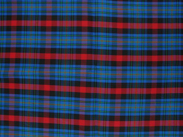 Taffeta Kilt Stripe - Blue and Red